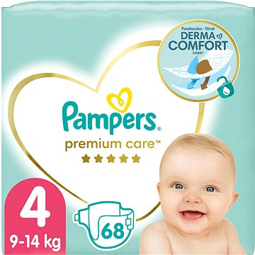 Pampers Premium Care Jumbo pack 4 Maxi 66 ks + ZDARMA Vlhčené ubrousky PAMPERS Sensitive (56 ks)