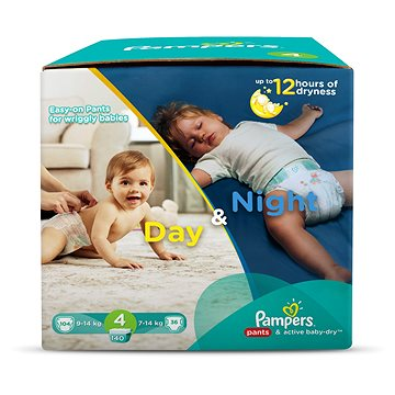PAMPERS Pants&Active Baby Day&Night vel. 4 Maxi