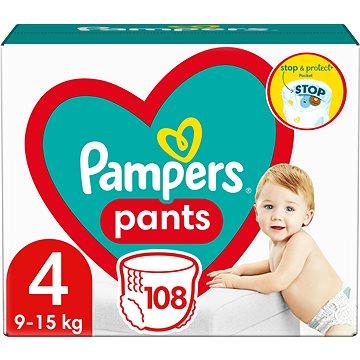 PAMPERS Pants vel. 4 Maxi (104ks) - měsíční zásoba (4015400697534) + ZDARMA Dětské vlhčené ubrousky PAMPERS Natural Clean (64 ks)