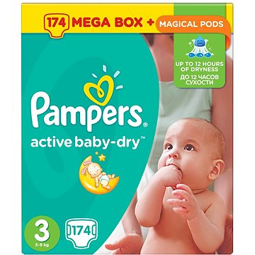 PandG Pampers Active Baby plenky vel.3 (174ks)