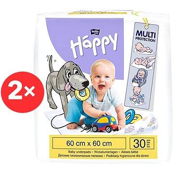 BELLA Baby Happy Dětské podložky 60 × 60 cm, 2× 30 ks