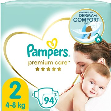 PAMPERS Premium Care vel. 2 Mini (96 ks) (4015400743248) + ZDARMA Vlhčené ubrousky PAMPERS Sensitive (56 ks)