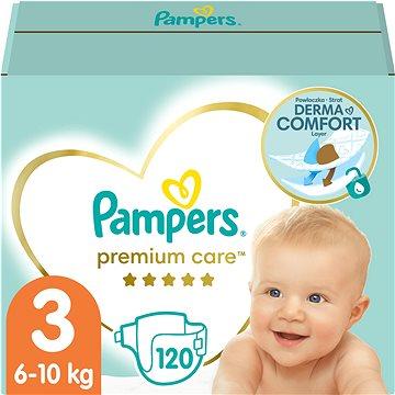 PAMPERS Premium Care vel. 3 Midi (120 ks) - měsíční zásoba (4015400465461)