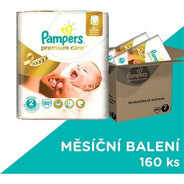Pampers Premium Care Plenky 2 (Mini) 3-6 Kg - 160 ks