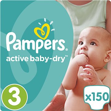 PAMPERS Active Baby-Dry vel. 3 Midi Mega Box (150 ks) (4015400265207)