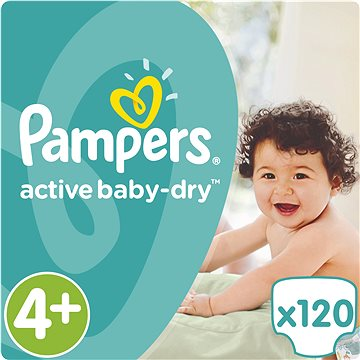 PAMPERS Active Baby-Dry vel. 4+ Maxi Plus Mega Box (120 ks) (4015400264972)