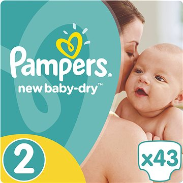 PAMPERS New Baby-Dry vel. 2 Mini (43 ks) (4015400704294)