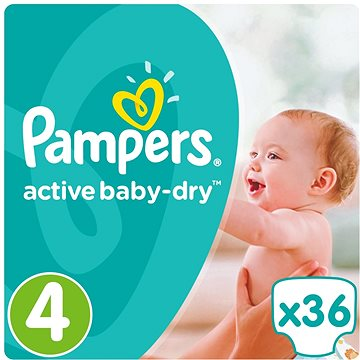 PAMPERS Active Baby-Dry vel. 4 Maxi (36 ks) (4015400537458)