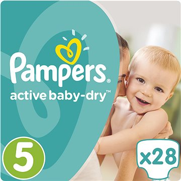 PAMPERS Active Baby-Dry vel. 5 Junior (28 ks) (4015400537632)