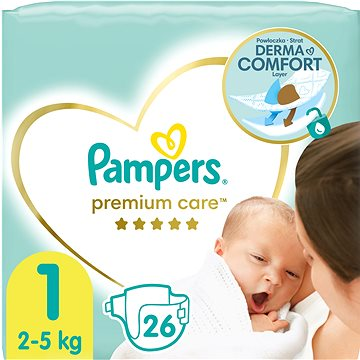 PAMPERS Premium Care vel. 1 Newborn (22 ks) (4015400687696) + ZDARMA Vlhčené ubrousky PAMPERS Sensitive (56 ks)