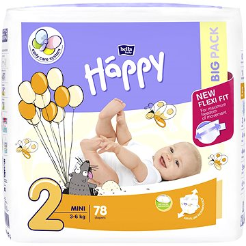 BELLA Baby Happy Mini vel. 2 (78 ks) (5900516602840)