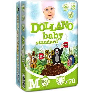 DOLLANO Baby Standard M 70 ks (8594180970083) + ZDARMA Vlhčené ubrousky LINTEO Baby Soft & Cream 72 ks