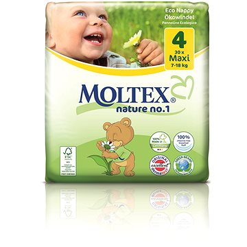 MOLTEX nature no. 1 Maxi 7 - 18 kg (30 ks) (4018639009772)