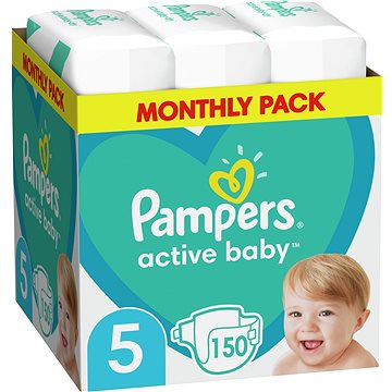 PAMPERS Active Baby-Dry vel.5 Junior (150 ks) (8001090172594)
