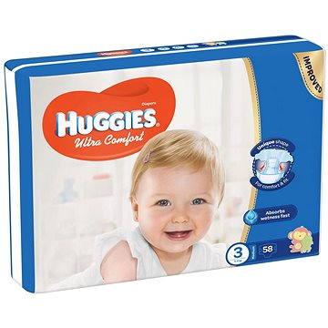 HUGGIES Ultra Comfort Jumbo vel. 3 (58 ks) (5029053562896) + ZDARMA Vlhčené ubrousky HUGGIES Pure 56 ks
