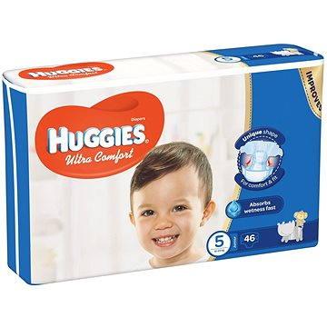 HUGGIES Ultra Comfort Jumbo vel. 5 (46 ks) (5029053562926) + ZDARMA Vlhčené ubrousky HUGGIES Pure 56 ks