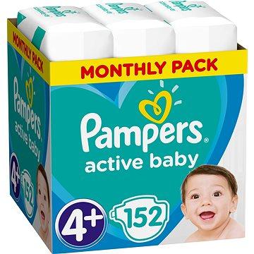 PAMPERS Active Baby-Dry vel. 4+ Maxi (152 ks) - měsíční balení (8001090448392) + ZDARMA Prací gel ARIEL Baby 1,3 l (20 dávek)