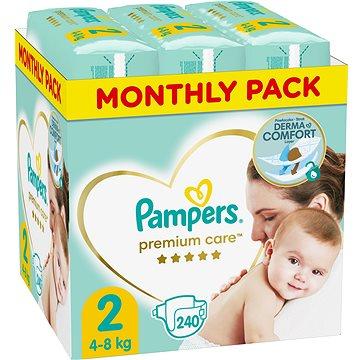 PAMPERS Premium Care vel. 2 Mini (240 ks) - měsíční balení (8001090379474)