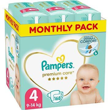 PAMPERS Premium Care vel. 4 Maxi (168 ks) - měsíční balení (8001090379511)