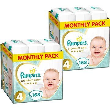 PAMPERS Premium Care vel. 4 Maxi (336 ks) - dvouměsíční balení