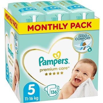 PAMPERS Premium Care vel. 5 Junior (136 ks) - měsíční balení (8001090379535)
