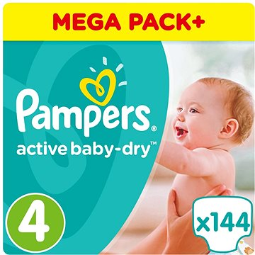 PAMPERS Active Baby-Dry vel. 4 Maxi (8-14 kg) 144 ks (8001090459640)