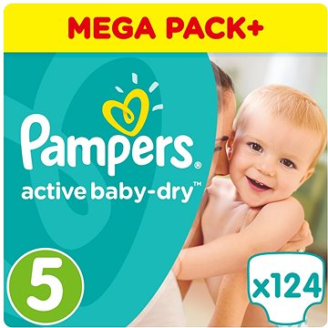 PAMPERS Active Baby-Dry vel. 5 Junior (11-18 kg) 124 ks (8001090459695)