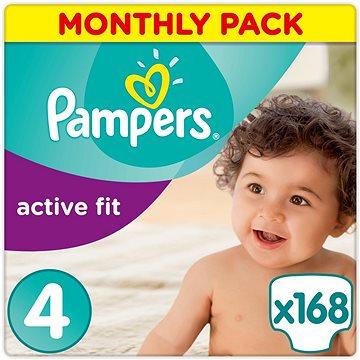 PAMPERS Active Fit vel. 4 (168 ks) - měsíční balení (4015400557487) + ZDARMA Prací gel ARIEL Baby 1,3 l (20 dávek)