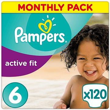 PAMPERS Active Fit vel. 6 (120 ks) - měsíční balení (4015400729204) + ZDARMA Prací gel ARIEL Baby 1,3 l (20 dávek)