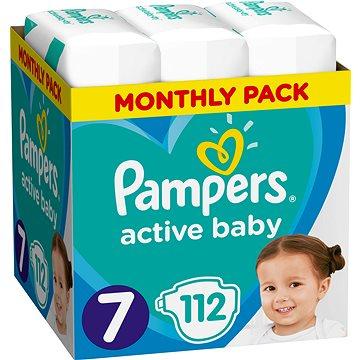 PAMPERS Active Baby vel. 7 (112 ks) - měsíční balení (8001090911100)