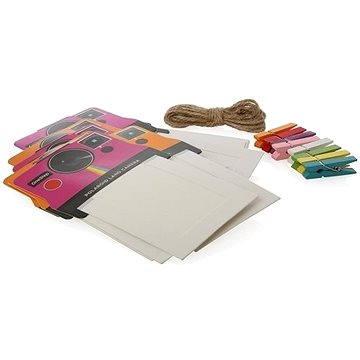 Rámeček Polaroid na instantní fotografie 2x3 růžový/oranžový (PL2X3FRPO)