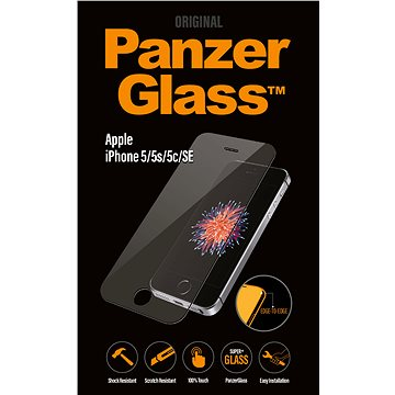 PanzerGlass Edge-to-Edge pro Apple iPhone 5/5S/5C/SE čiré (1010)