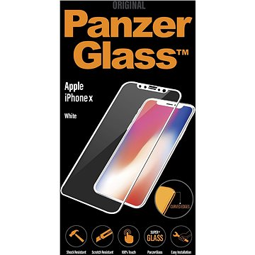 PanzerGlass Edge-to-Edge pro Apple iPhone X/XS bílé (CaseFriendly) (2626)