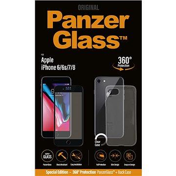 PanzerGlass pro iPhone 6/6s/7/8 Premium černé + pouzdro v balení (B2614)