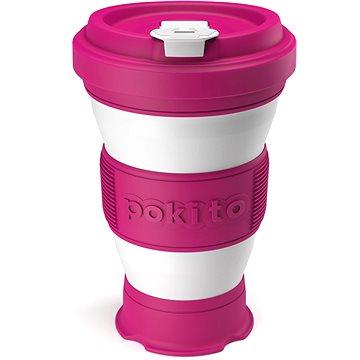 POKITO Skládací šálek na kávu 3v1 malinový (RB88340)