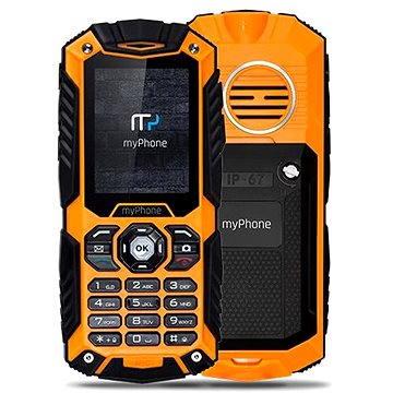 MyPhone Hammer Plus oranžovo-černý (TELMYHHAPOR)