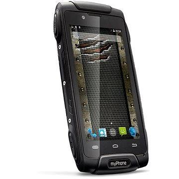 MyPhone Hammer Axe černý Dual SIM (TELMYAHAXE3GBK) + ZDARMA Elektronická licence ESET Mobile Security na 6 měsíců (elektronická licence)
