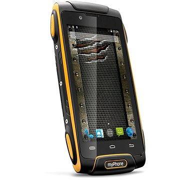 MyPhone Hammer Axe oranžovo-černý Dual SIM (TELMYAHAXE3GOR) + ZDARMA Elektronická licence ESET Mobile Security na 6 měsíců (elektronická licence)