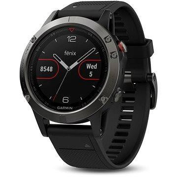 Chytré hodinky Garmin Fenix 5 Gray Optic Black band (010-01688-00) + ZDARMA Proteinová tyčinka MAXSPORT Protein vanilka 60g