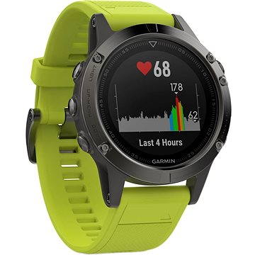 Garmin Fenix 5 Gray Optic Yellow band (010-01688-02)