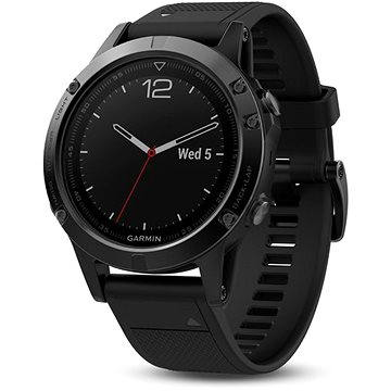 Chytré hodinky Garmin Fenix 5 Sapphire Black Optic Black band (010-01688-11)