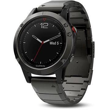 Chytré hodinky Garmin Fenix 5 Sapphire Gray Optic Metal band (010-01688-21)