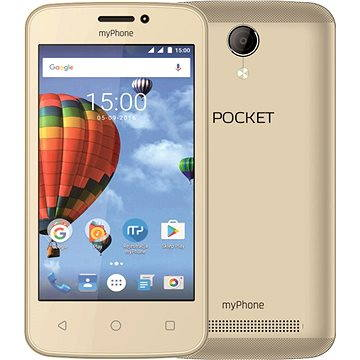 MyPhone Pocket zlatý (TELMYAPOCKETGO) + ZDARMA Digitální předplatné PC Revue - Roční předplatné - ZDARMA Digitální předplatné Týden - roční