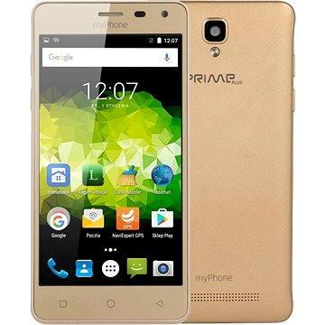 MyPhone Prime Plus zlatý (TELMYAPRIMEPGO) + ZDARMA Digitální předplatné Týden - roční
