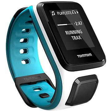 Sporttester TomTom GPS hodinky Runner2 (S), bílá/modrá (1RE0.001.03) + ZDARMA Digitální předplatné Exkluziv - SK - Roční předplatné