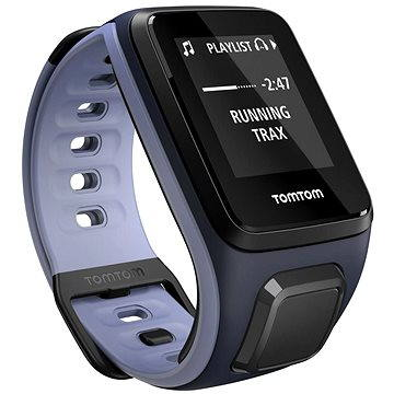 Sporttester TomTom GPS hodinky Runner 2 Cardio + Music (S), modrá/fialová (1RFM.001.02) + ZDARMA Sluchátka TomTom Sports Bluetooth Headset Digitální předplatné Exkluziv - SK - Roční předplatné