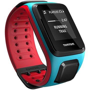 Sporttester TomTom Runner 2 Cardio + Music (L), modrá/červená (1RFM.001.00)