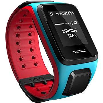 Sporttester TomTom GPS hodinky Runner 2 Music (L), modrá/červená (1REM.001.00) + ZDARMA Digitální předplatné Exkluziv - SK - Roční předplatné