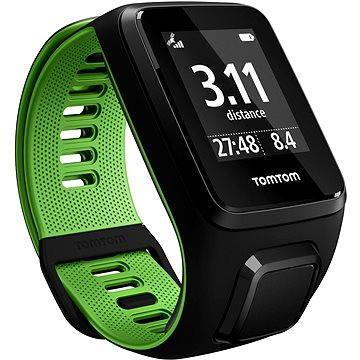 Sporttester TomTom GPS hodinky Runner 3 Cardio + Music (L) černo-zelený (1RKM.001.00)