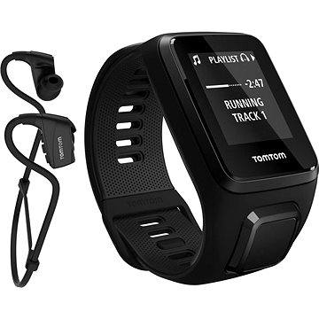 Sporttester TomTom GPS hodinky Spark 3 Cardio + Music + Bluetooth sluchátka (S) černý (1RKM.002.11)